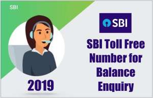 SBI Toll-Free Number for Balance Enquiry