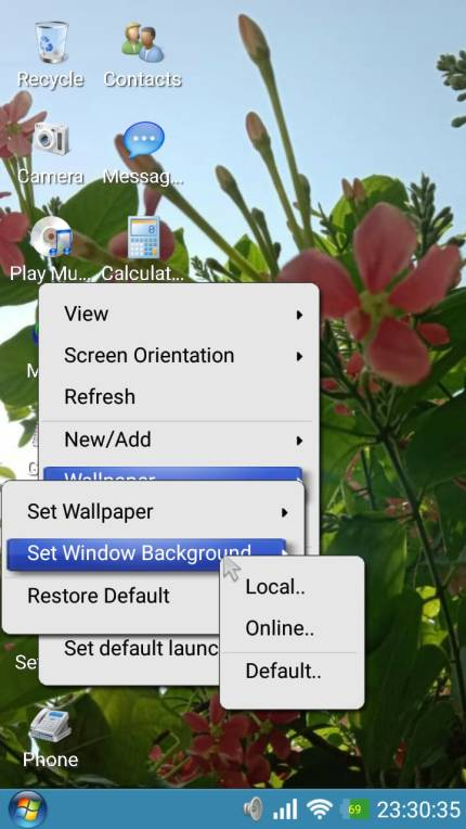 Window 7 launcher for android