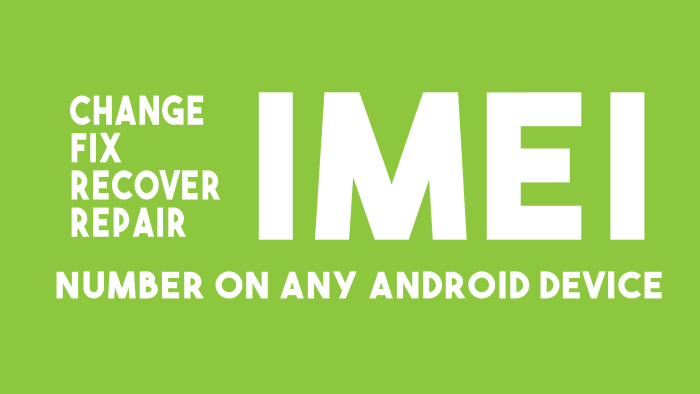 Change IMEI Android