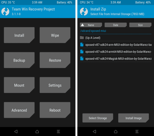 xposed framework via twrp for miui