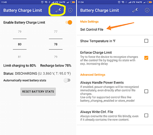 set battery charge limit to 80