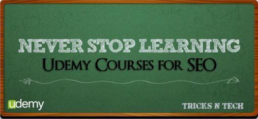 Udemy SEO courses