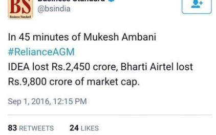 Reliance Jio Effect