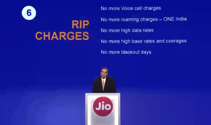 Reliance Jio Call Charges