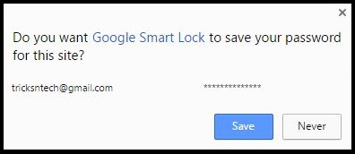 Save Password To Google Smart Lock