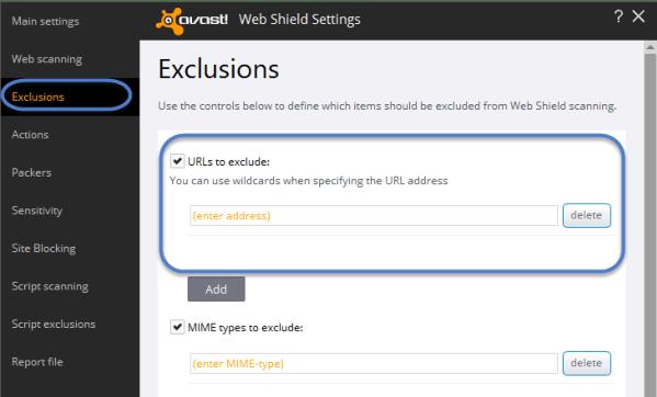 Avast err_spdy_protocol_error Exclusion Fix