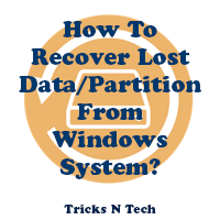 How to recover lost data - partition from Windows system