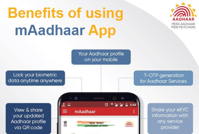Benefits of using mAadhaar App