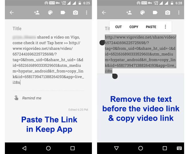 Copy Link of Vigo Video