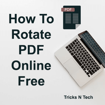 How To Rotate PDF Online Free