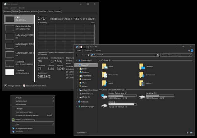 windows 10 official dark theme