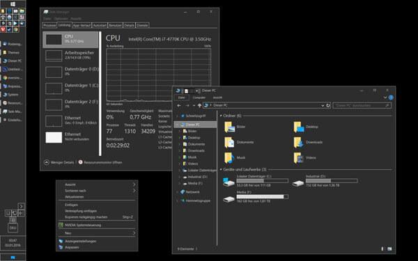 dark grey windows 10 themes