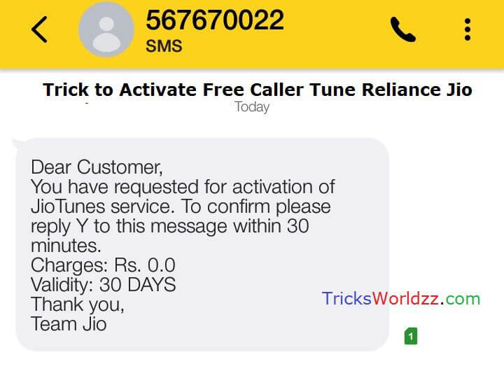 Activate Free Caller Tune Reliance Jio Number