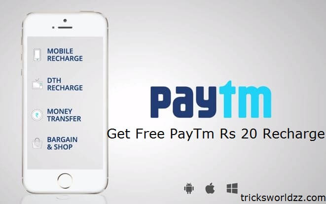 Get Free PayTm Cashback Recharges & Bill Payments up to 50%