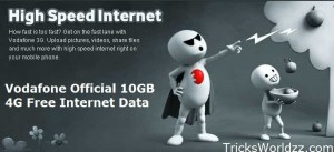 Vodafone Official 10GB 4G Free Internet Data