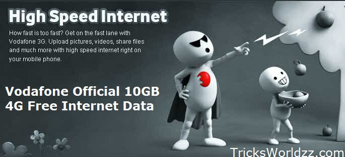 Vodafone Official 10GB 4G Free Internet Data All User