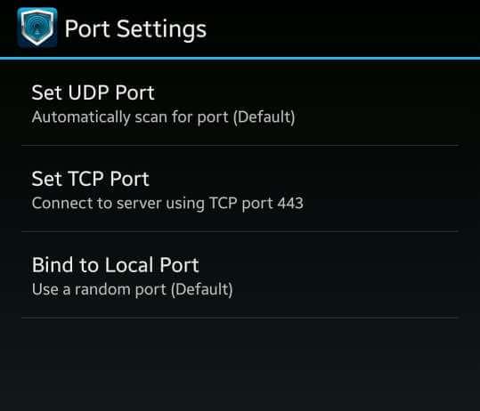 Airtel free internet trick Droid Vpn set tcp port as 443.