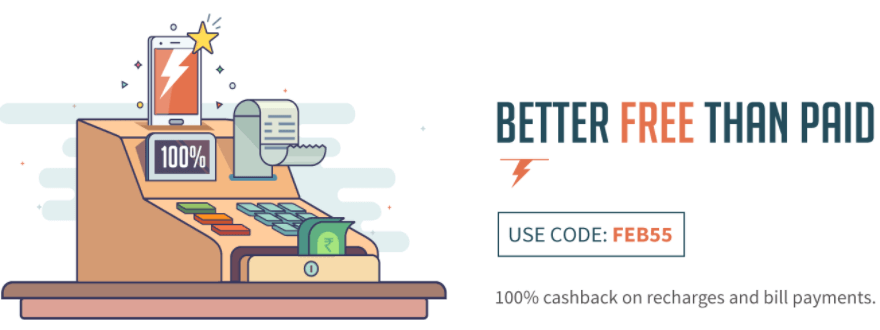 Flat 100% Freecharge Full Cashback Coupons February