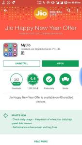 Download/updated MyJio app from the store. Reliance Jio Prime Membership
