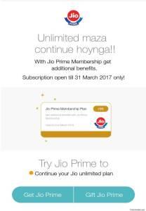 Buy Jio Prime