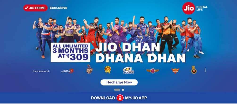 Reliance Jio Dhan Dhana Dhan Offer