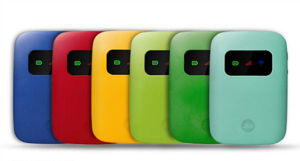 Reliance Jio JioFi 3 Now Available in Eight Different Colours
