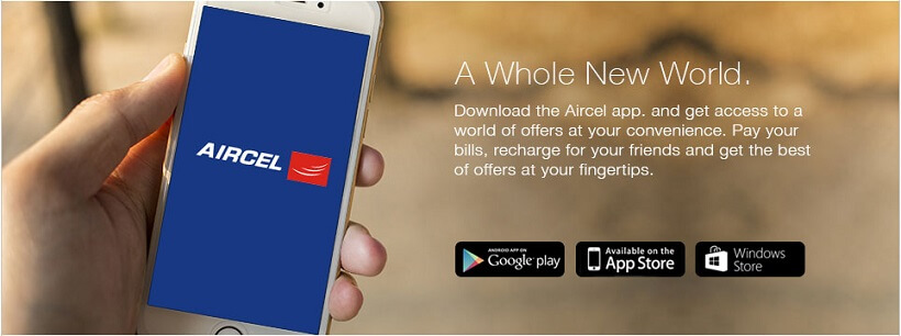 Get Rs.50 Cashback Aircel Prepaid Recharges