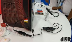 JioPhone TV Cable on CRT Television