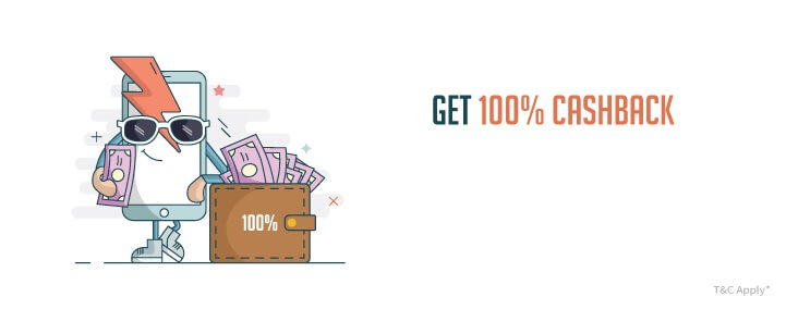 Get 100% Cashback on Mobile Recharges FreeCharge