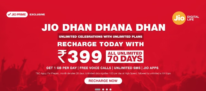 Time to Switch? Reliance Jio Tariff Hiked Now Get 70 Days Validity on Rs 399