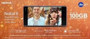 Get Additional 100GB Free Internet Data Jio Users Nokia 8 | Nokia 5