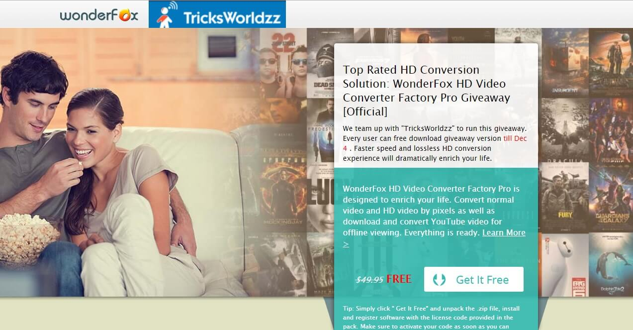 [Official Giveaway] Get HD Video Converter Factory Pro