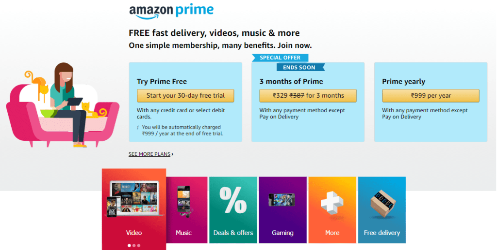Jio Fiber broadband getting free Amazon Prime