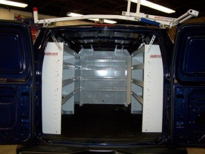 commercial van shelving