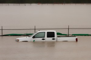 truck flooded