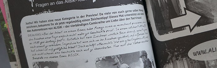 Alisik in der MangaPreview