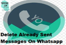 Delete Already Sent Messages On Whatsapp