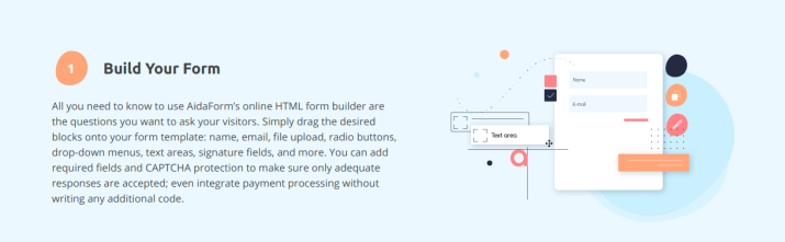 Guide to Create HTML Forms Using AidaForm Online Form Builder