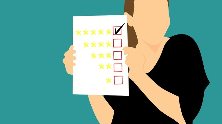 customers on review