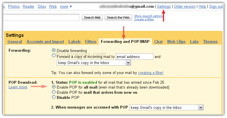 connect gmail to outlook 2017