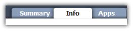 iTunes info tab