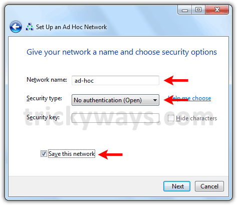 ad-hoc-netword-name-and-security
