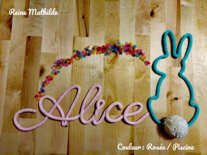 Prénom Alice tricotin