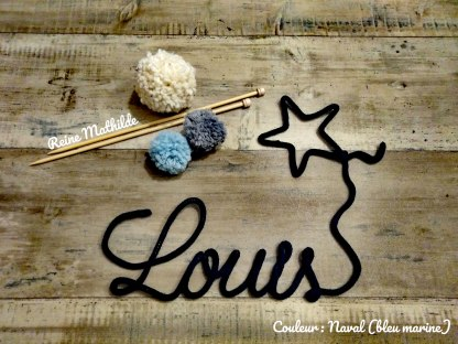 Prénom Louis au tricotin