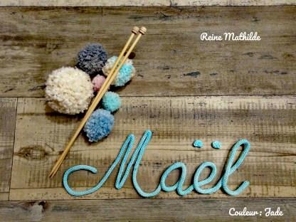 Prénom Maël au tricotin