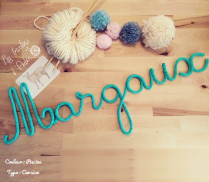 Prénom Margaux tricotin