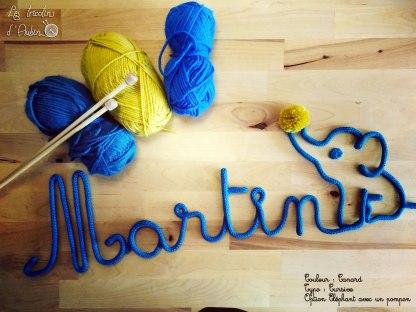 Martin tricotin éléphant