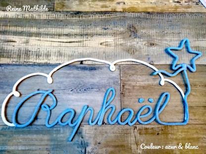 Prénom Raphaël au tricotin