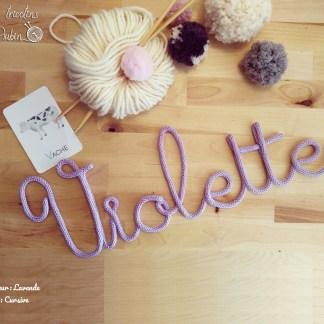 Prénom Violette tricotin