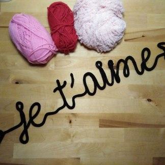 Je t'aime en tricotin